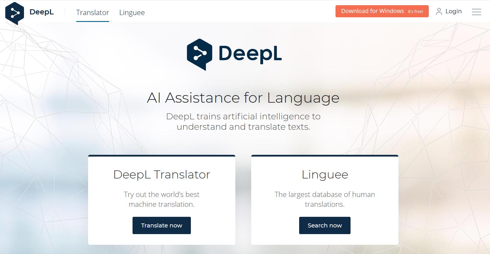 比Google Translate 更好用的翻译软件DeepL
