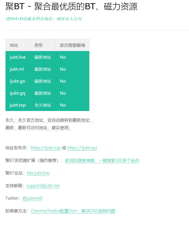 聚BT最新地址发布页1jubt.top